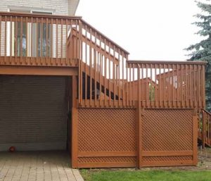 deck hero - big deck and fence
